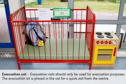 evacuation cot