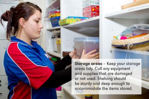 storage areas